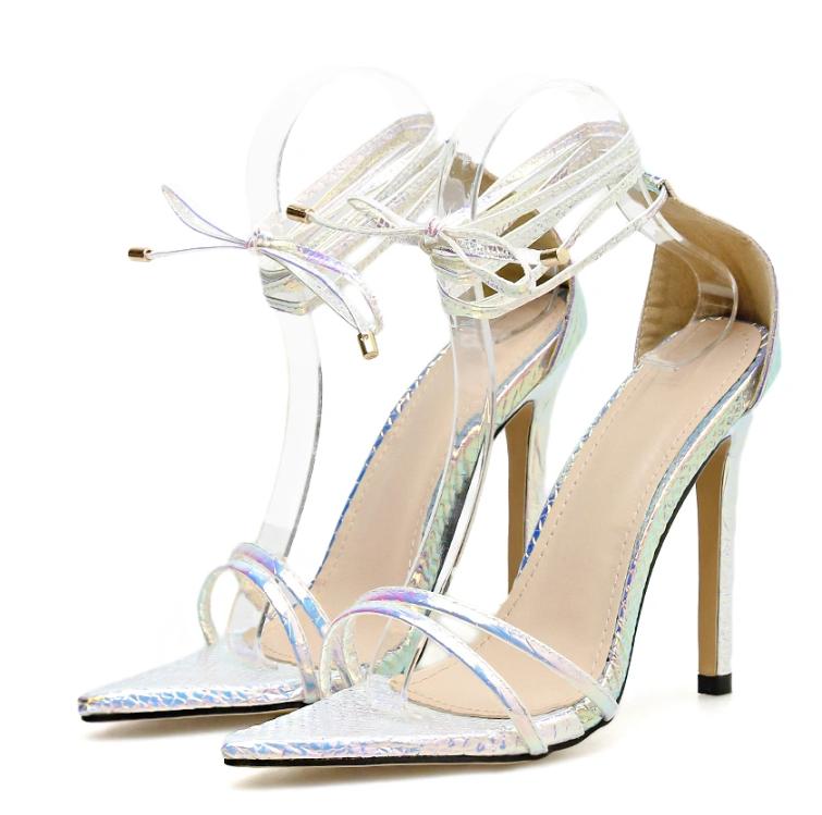 Design Your Own Shoe China Factory Wholesale 11cm High Heel Women Sandals Shoes