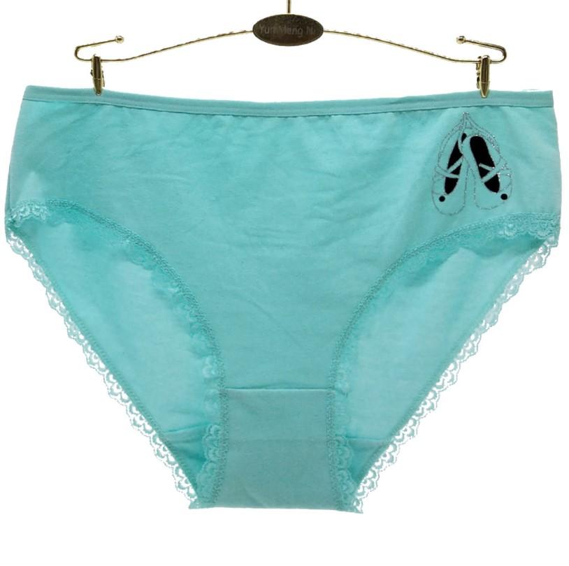 Women Panty Cotton Large Size Underwear Middle Waist Print Hip Lift Lingerie