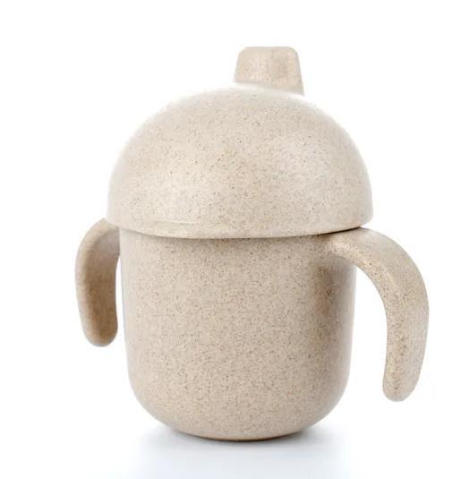 240ml Kids Children Bottles Healthy Wheat Straw Cups Unbreakable Baby Feeding Bottle Drinkware Mug Cup for Water, Milk, Juice