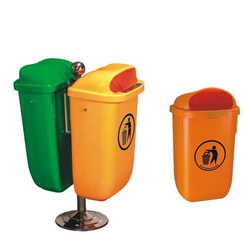 Add to CompareShare 50Liter metal stand bin, green dustbin, waste container with key lock MV-50C