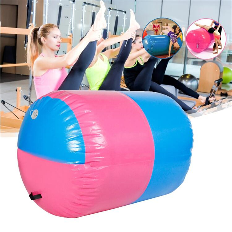 100x85CM Inflatable PVC Roller Fitness Gymnastics Indoor Gym Yoga Column Therapy Physio Exercise Tools