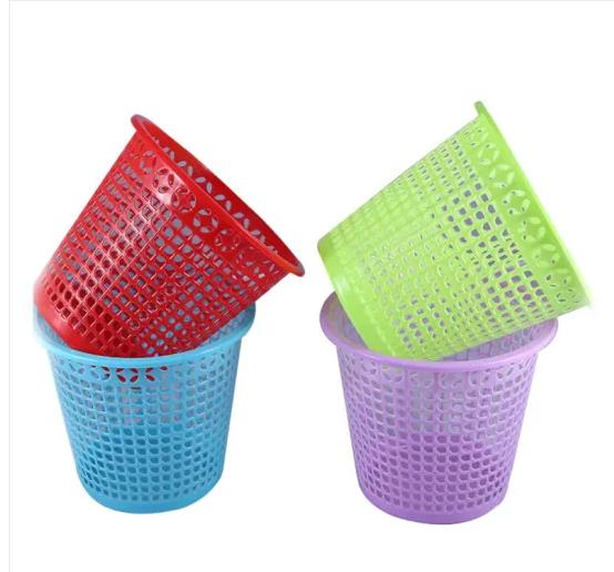 Eco- Friendly Plastic Waste Bins, Household Trash Can, Office Trash Can Plastic Garbage Bin