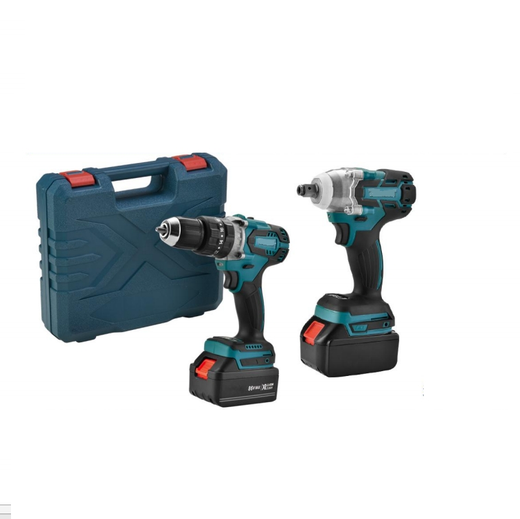 Factory Brushless 86V Power power Hammer Cordless Drill with Two Batteries