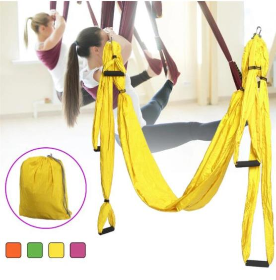 250cm Widened EVA Handle Air Fitness Yoga Hammock Yoga Studio Quality Swing Yoga Hammock