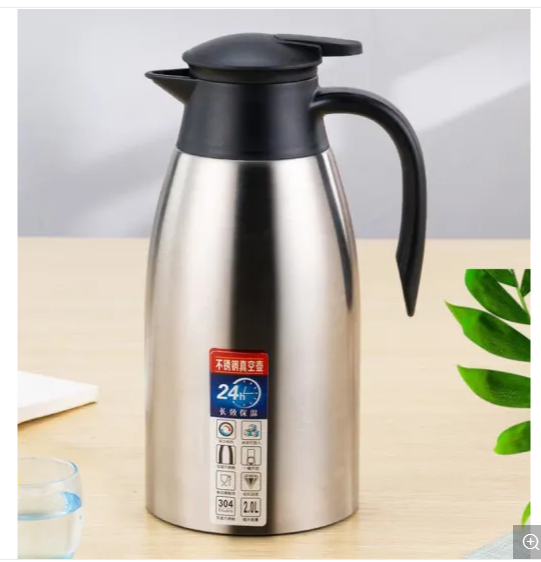 304 Stainless Steel Double-Layer Vacuum Kettle for Household Hotel Large-Capacity Warm Water Insulation Pot