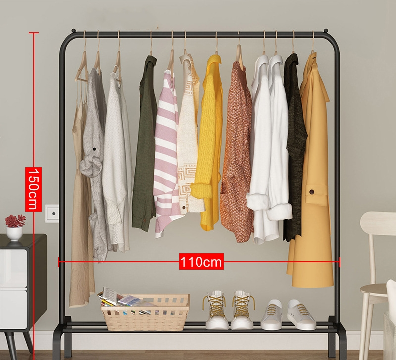 Modern Simple Drying Rack Floor Folding Drying Rack Simple Clothes Rod