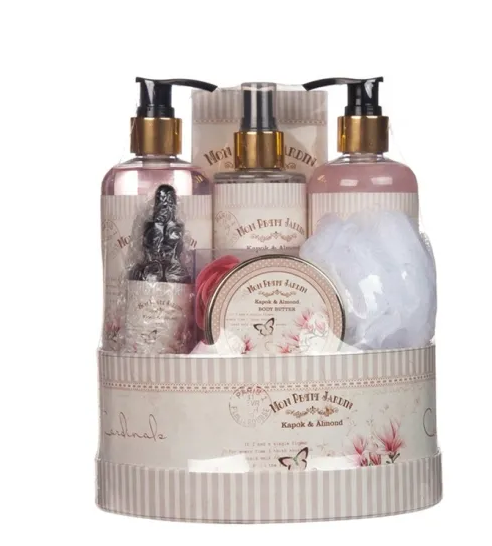 Customized Basket 8PC Woman SPA Gift Bath and Body Mist Sets