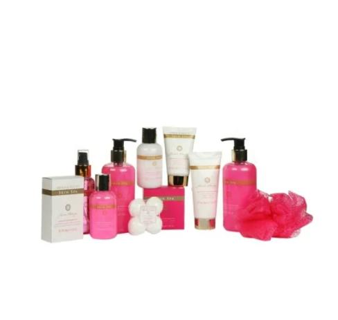 OEM Factory Wholesale Women Basket Body Care Cleaning Wrapping Body and Bath Works Lotions Gift SPA Set