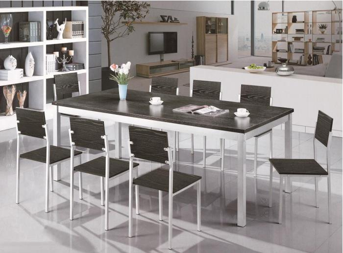 Household Extended Practical Rectangular Dining Table with 8 Chairs