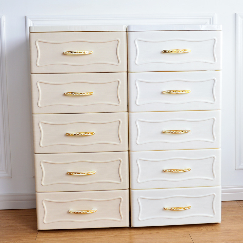 European-Style Storage Cabinets Multi-Layer Plastic Cabinets Classification Floor Storage Cabinets Drawer