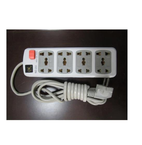 Africa Style Electric Extension Socket (NO. 204)