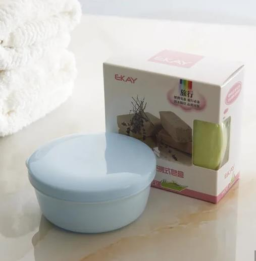 Hot Sale Travel Round Cute Double Layer Plastic Sealed Soap Box