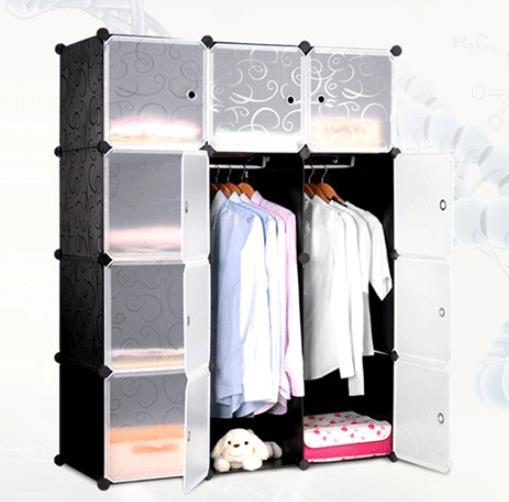 Hot Sale Combined Resin Folding Simple Storage Multifunctional Wardrobe