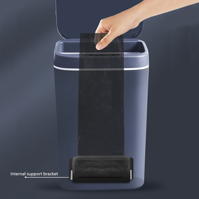 New Plastic Household Mute Creative Rechargeable Smart Sensor Automatic Trash Can