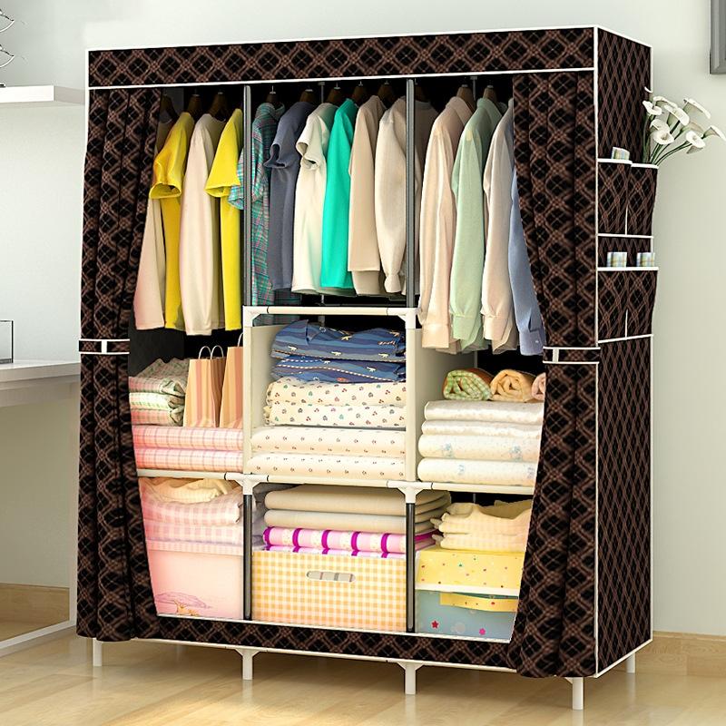 Simple Modern Assembly Wardrobe Fabric Storage Cabinet Wardrobe
