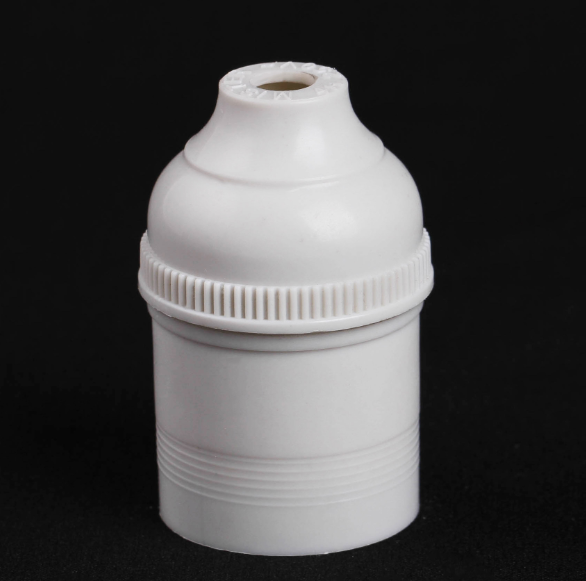 Factory Direct Large Supply Customized E27 High Frequency Porcelain White Plastic Lamp Holder
