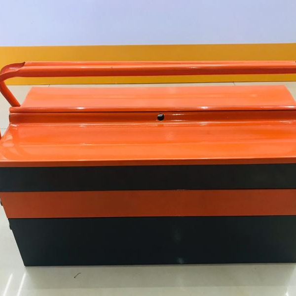 Manufacturers direct three - layer two - color hand - held toolbox tin toolbox car storage toolbox