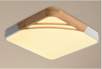 Nordic Style LED Lamps Long/Round Simple Modern Wood Ceiling Lights