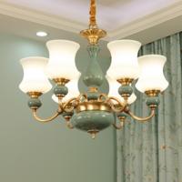 Hot Sale Morden Luxury Glass Copper Pendant Lighting Ceiling Chandeliers Lamps