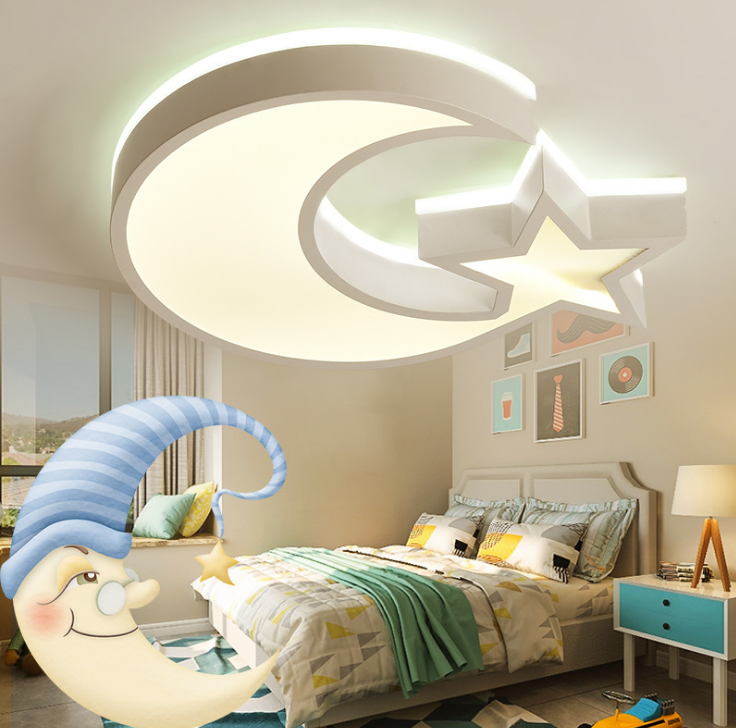 Factory Direct Sale LED Cartoon Star Moon Child Room Ceiling Lamp