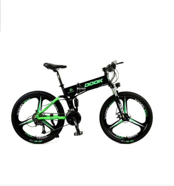 26 inch 27 speed folding mountain electric lithium bicycle aluminum alloy light export generation driving power off road vehicle