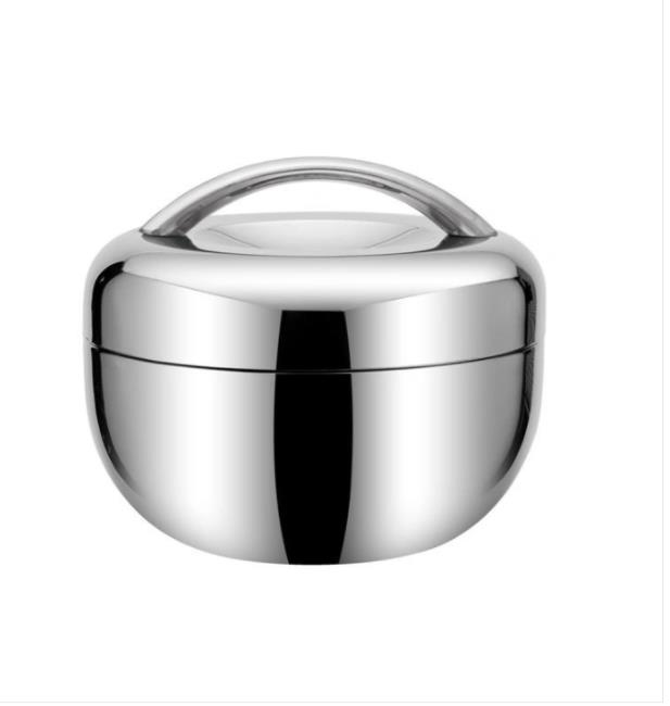 Double Layer Stainless Steel Lunch Box Insulated Lunch Box for Students Apple Shaped Lunch Box for Children