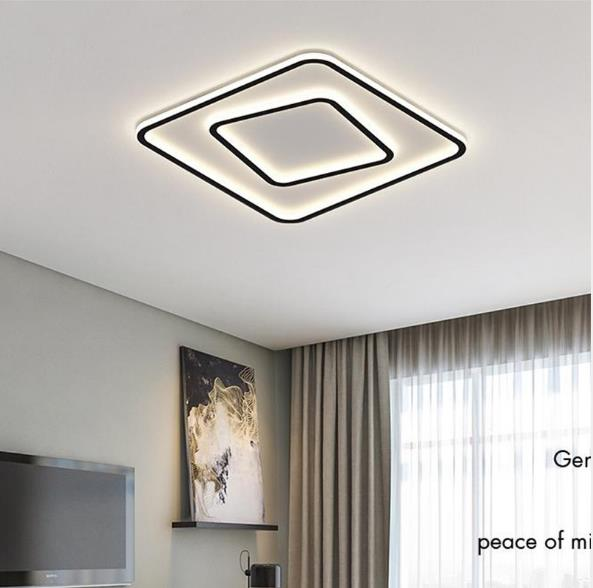 New Simple Modern Ultra-Thin LED Side-Emitting Square Circular Ceiling Light