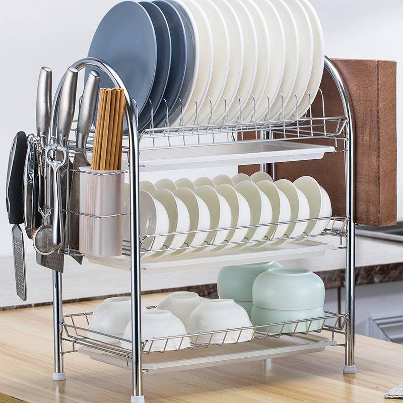 Kitchen Floor Storage Rack Multi-Layer Household Drain Dish Rack