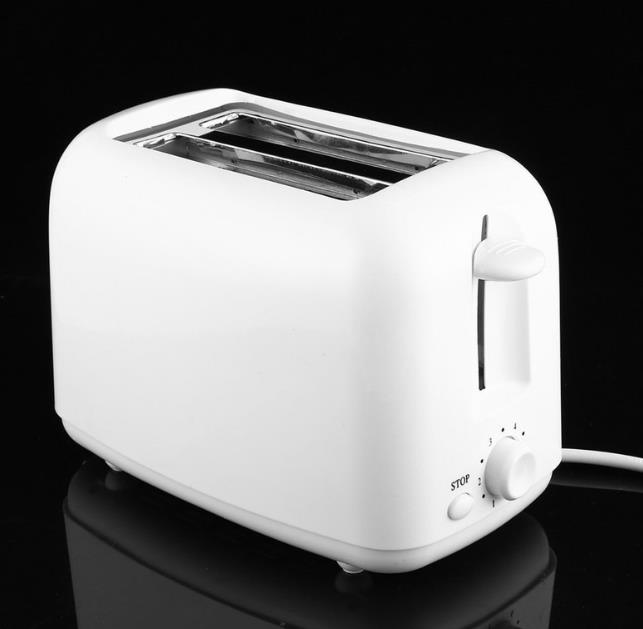 Easy to Use 2 Slice Colorful Rubber Painting Stainless Steel Bread Toaster for The Home