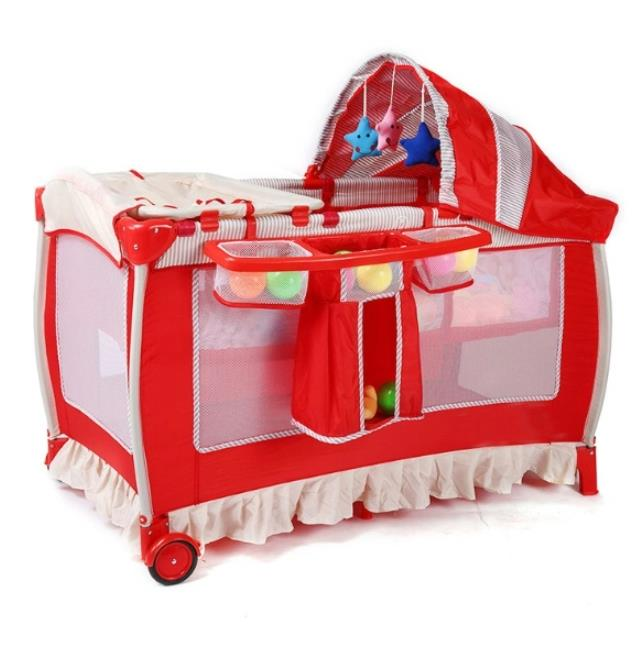 Multi-Function Infant Bed, Baby Bed, Universal Wheeled Mosquito Net, Game Bed, Mother and Child Supplies Wholesale