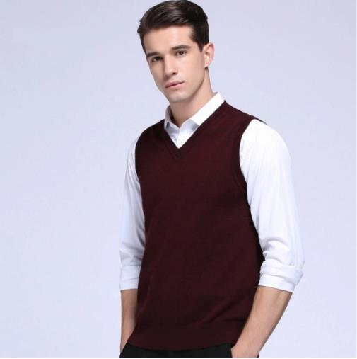 Fine Quality Cashmere Mens Wool Sweater Vest