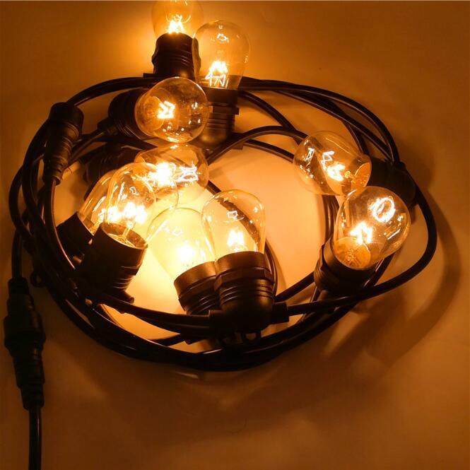 E27 Solar Lamp String Decorative Lamp String Christmas Tree Lights