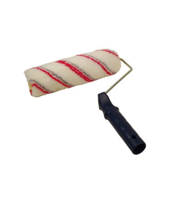 Red&Black Stripe Plastic Handle Paint Roller (SG-042)