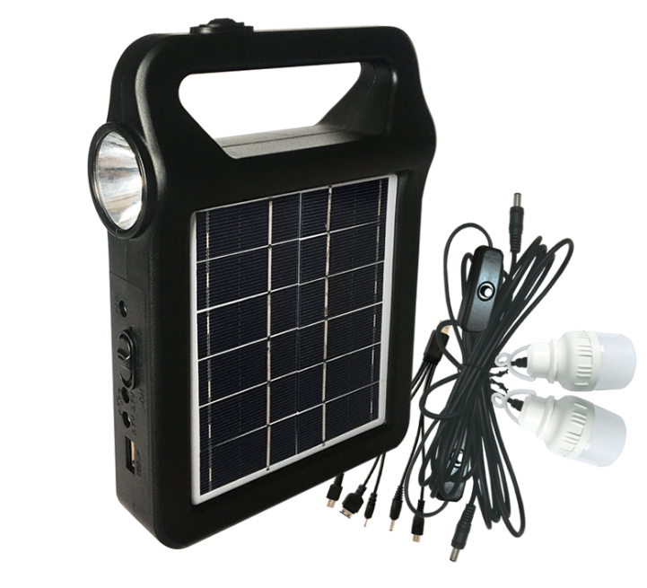 Factory direct sale home powered solar energy system with light and generator