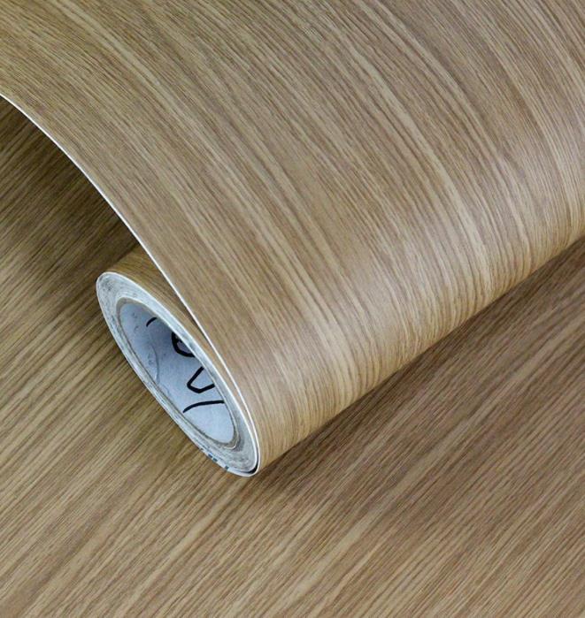 Factory Wholesale PVC Self-Adhesive Wallpaper Wallpaper Wood Grain