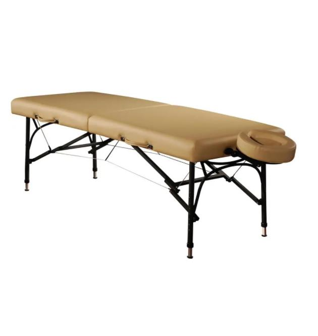Adjustable Beauty Salon Facial Bed for Massage with Wooden Leg