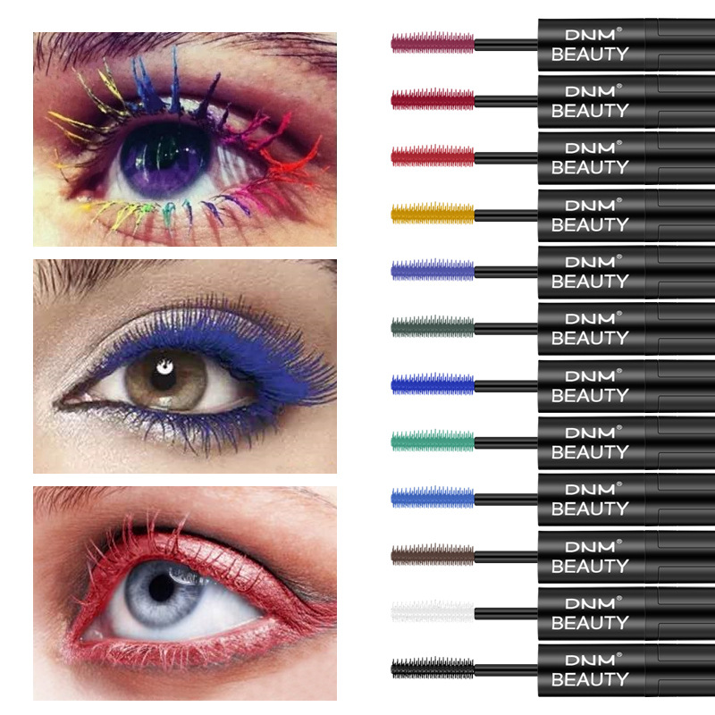 Waterproof Long Thick Curly Growth Extension 4D Double-Headed Color Mascara