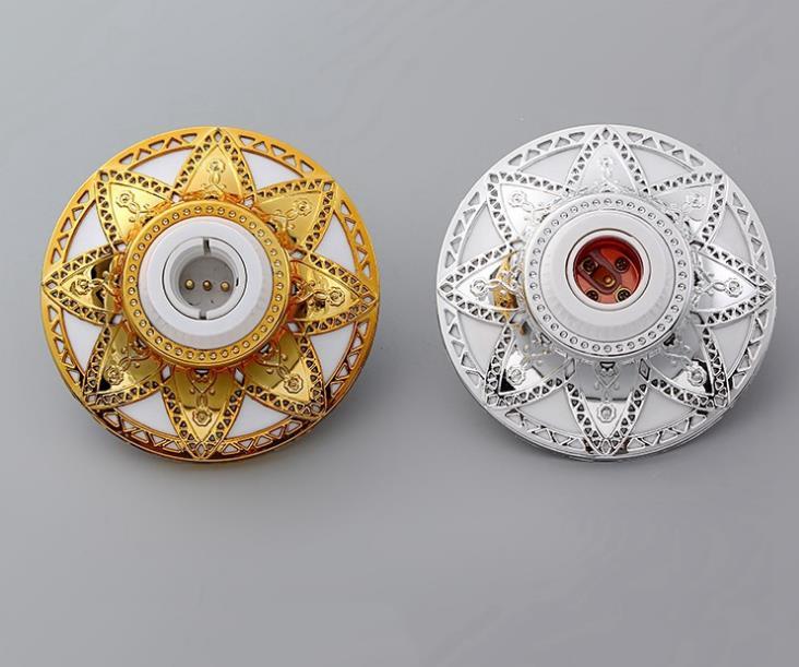 Supply Wholesale New Design Octagonal Star Pattern Screw Flat Lamp Holder