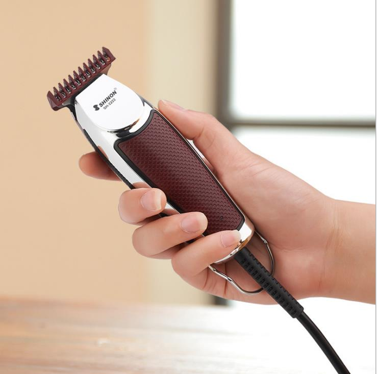 Special Push White Carving Trimming Electric Clipper with 2m Line and Stainless Steel Blade