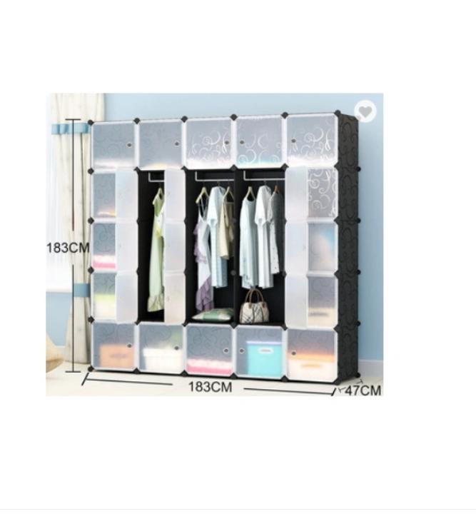 PP Material DIY Wardrobe Cabinet