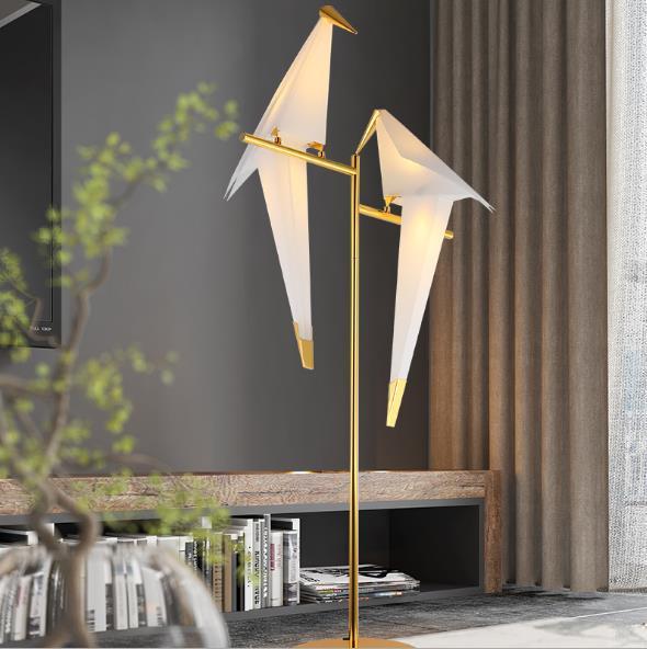 Simple Post-Modern Living Room Study Design Creative Art Thousand Paper Cranes Bird Floor Lamp