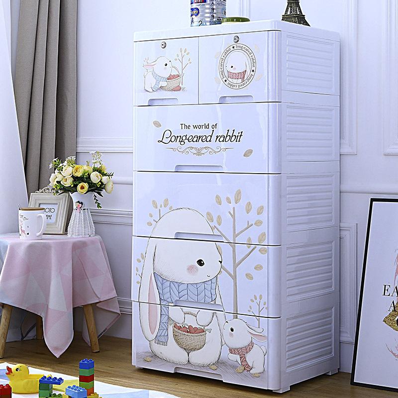 Household Multi-Layer Children′s Plastic Cabinet Drawer Type Children′s Toy Storage Cabinet Clothes Storage Cabinet Box