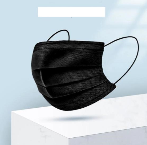 Four-Layer Disposable Masks Black Adult Protective Civilian Masks