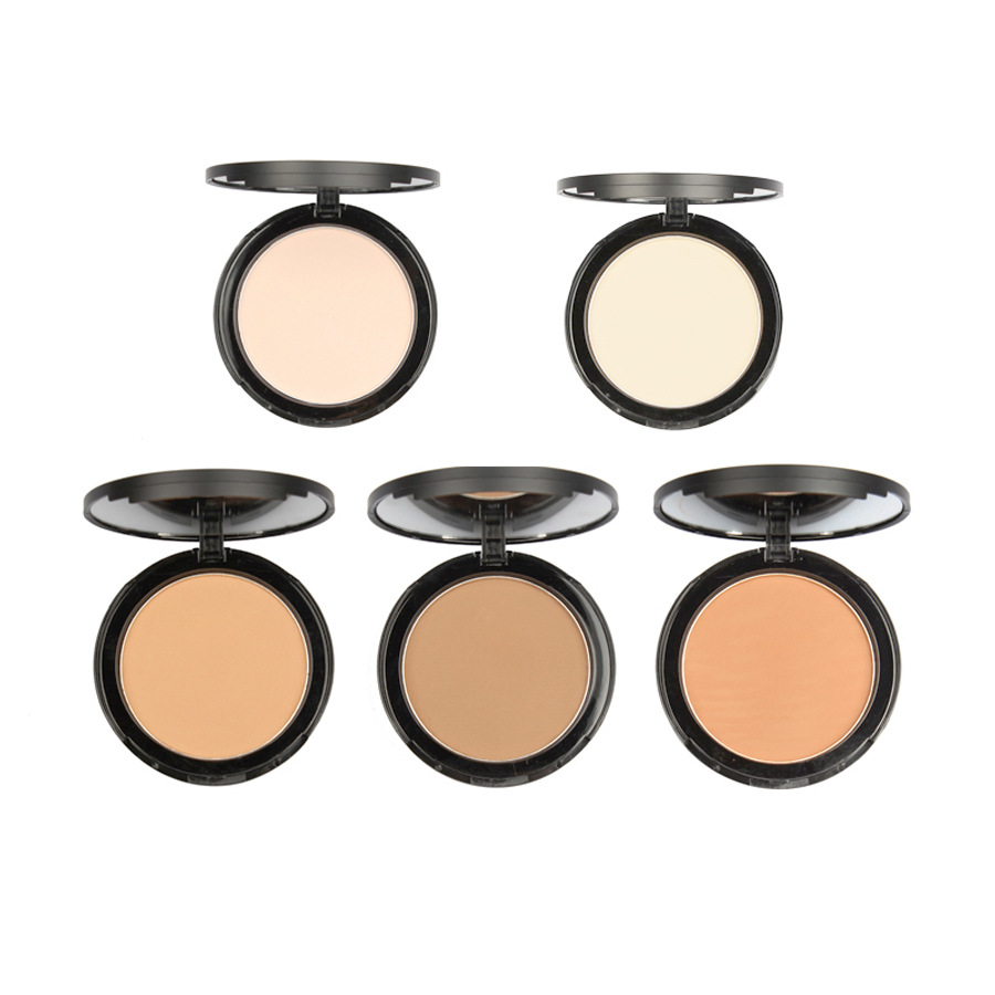 Double-Layer Natural Concealer Oil Control Multifunctional 5-Color Pressed Powder