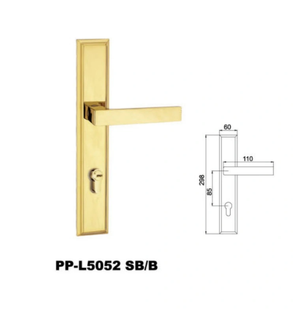 Safety Fancy Door Handles and Locks on Plate for Home Gate