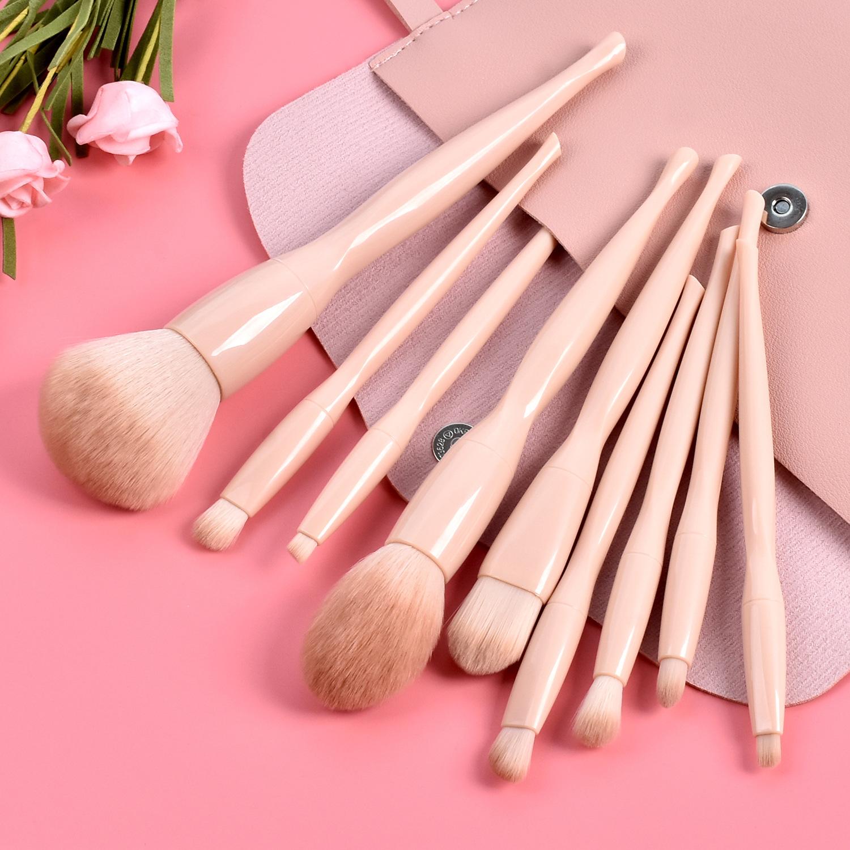Wholesale Beauty Tool Set 9 Super Soft Blush Loose Powder Brush Makeup Brush