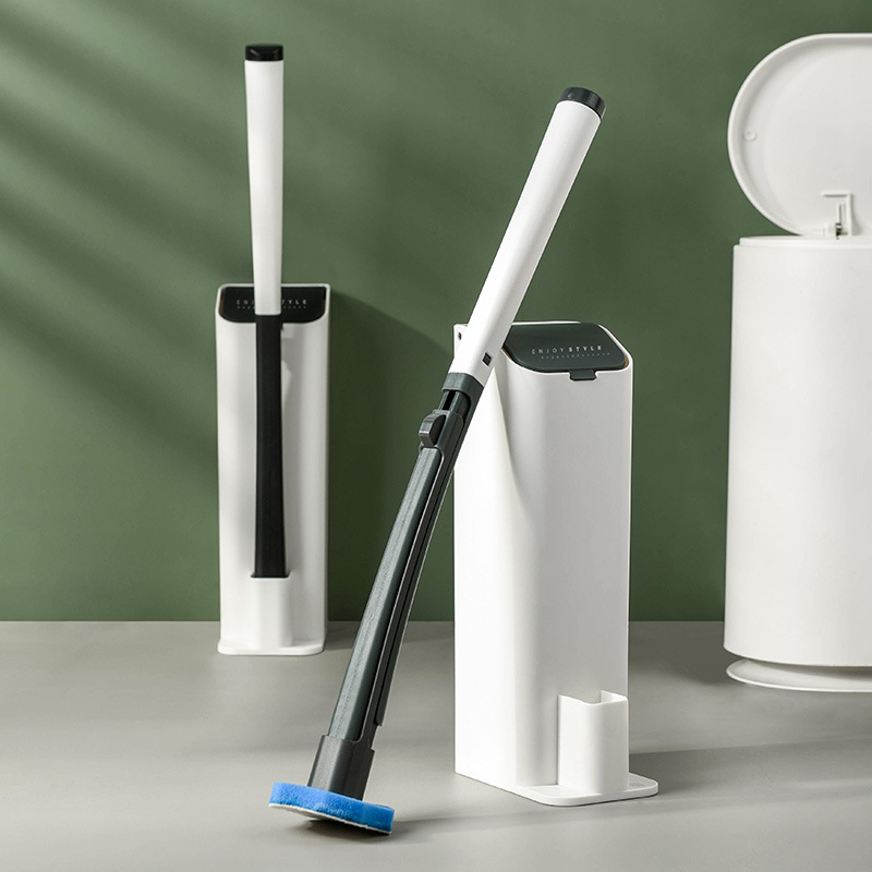 New Creative Toilet Brush Simple European Style Cleaning Brush Removable Brush Head Comes with Cleaning Liquid Toilet