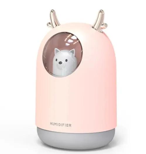 USB 300ml Humidifier Cute Pet Ultrasonic Cool Mist Aroma Diffuser LED Night Light