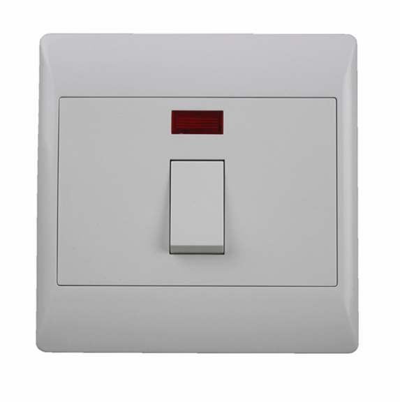 Wholesale White 45A Wall Switch with Indicator Light (126× 126mm) for Sale