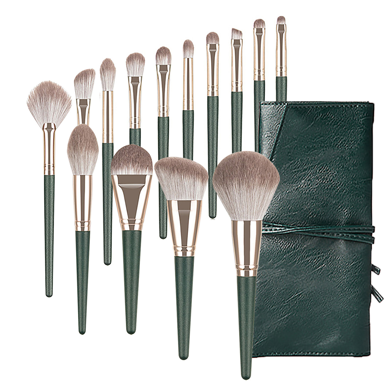 Professional Beauty Tool Brush Paint 14 Green Cloud Super Soft Beginner Full Set of Makeup Brush Set